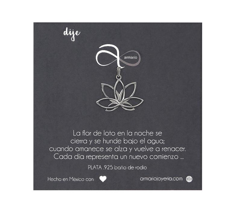 Dije Flor De Loto Plata Armario Joyería