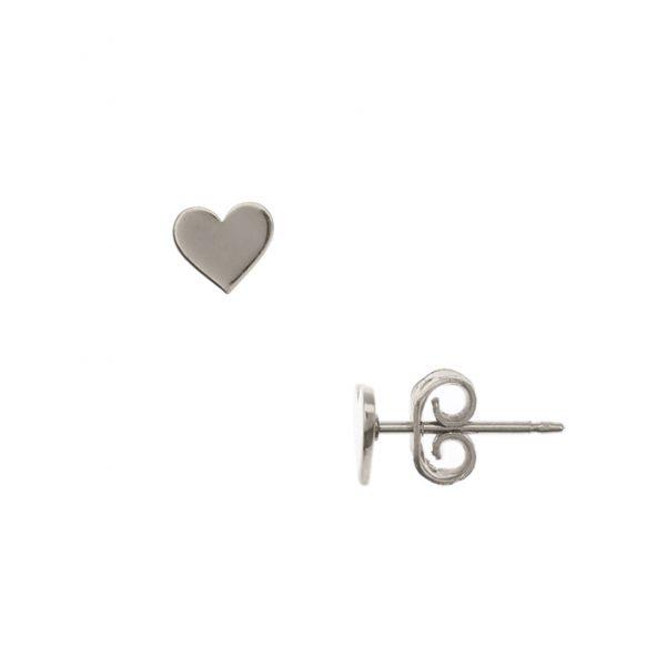 en venta d3c15 736d5 Aretes Corazón Plata