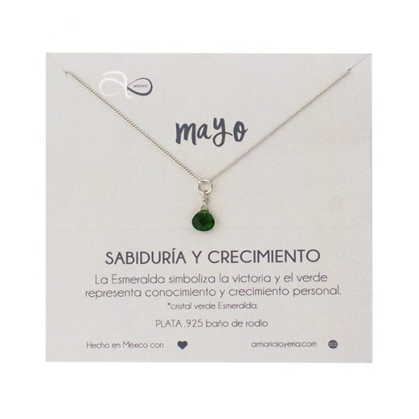 b614cb084a55 Collar Mayo Plata - Armario Joyería