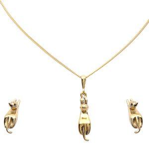 Set Gatos Oro
